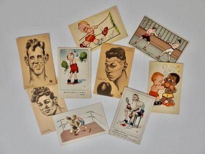 Boxe. Illustrations. Cabrol. Mich. Eliott....