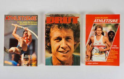 Athlétisme. Livres. Trois livres neufs importants...