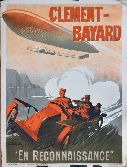 Automobile . Aérostation . Militaria. Affiche...