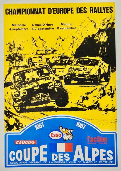 Auto. Rallye. Affiche originale de la Coupe...