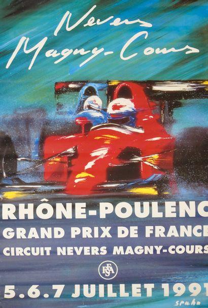 Auto. Magny-Cours. Formule 1. . Affiche couleur....