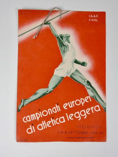 Athlétisme. Premiers Champts d'Europe 1934....
