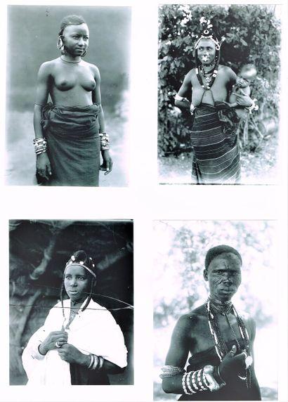 231 - PHOTOGRAPHIE. NIGER. DOSSO. A LA COUR DU ROI SAIDOU DJAMAKOYE EN 1924. Rarissime...