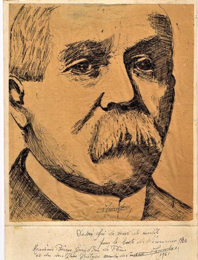 41 - [Georges CLEMENCEAU]. Portrait original...