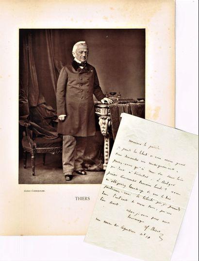 24 - Adolphe THIERS (1797-1877), Président...