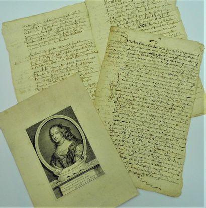 5 - [Marquise de SÉVIGNÉ]. Actes de 1660...