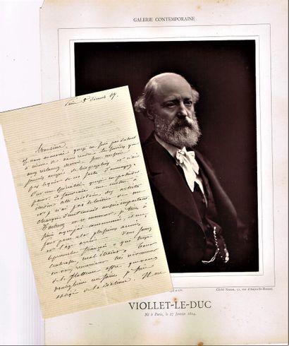 20 - Eugène VIOLLET-LE-DUC (1814-1874), le...