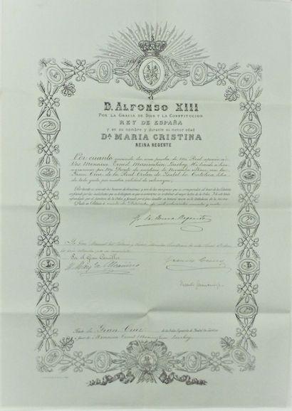 33 – DÉCORATION MILITAIRE. ESPAGNE. Ordre...