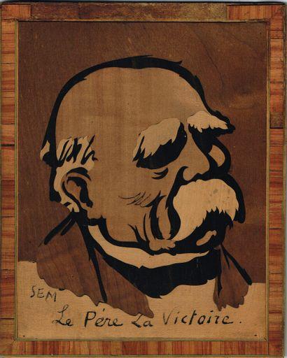 42 - [Georges CLEMENCEAU]. Célèbre portrait...