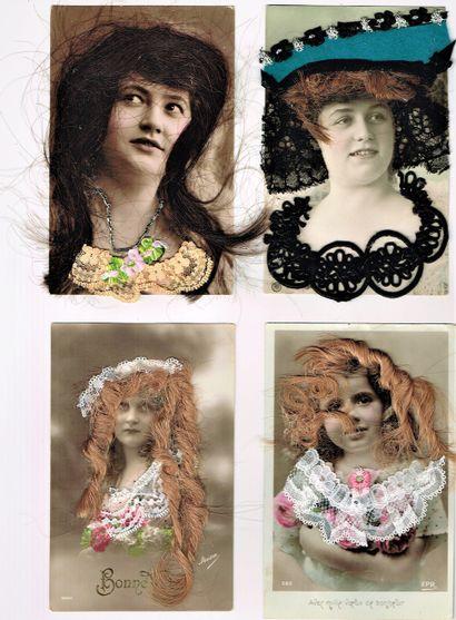 36 - FEMMES BELLE-EPOQUE. Exceptionnelle...