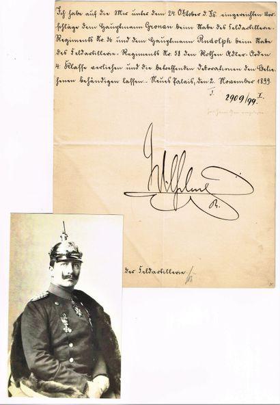 34 - GUILLAUME II de Prusse (1859-1941),...