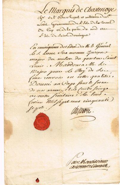 8 - ILE DE LA TORTUE (CARAÏBES). Gouverneur...