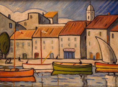 Louis Mathieu VERDILHAN (1875 - 1928) Port...