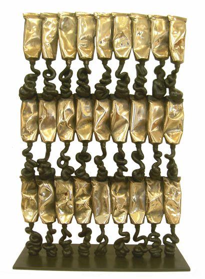 ARMAN (1928-2005)  Défi à Newton, 2004  Bronze...