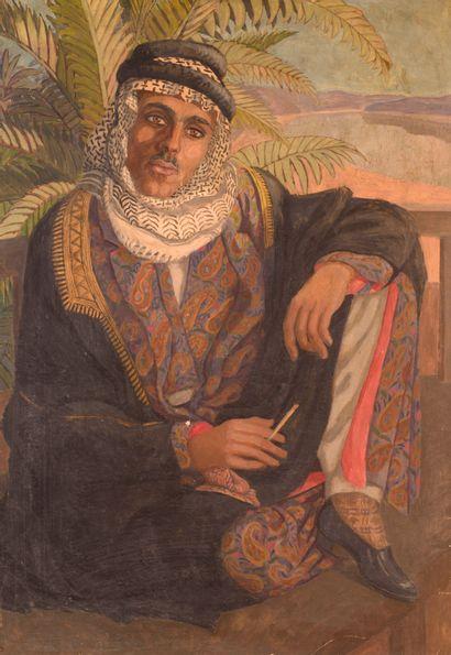 École orientaliste du XIX° siècle  Portrait...