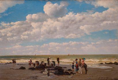 Auguste-Emile FLICK (né en 1845-?) Scène...