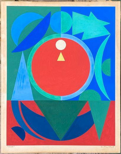 Auguste HERBIN (1882-1960)  Eros, 1948  (ALPHABET...