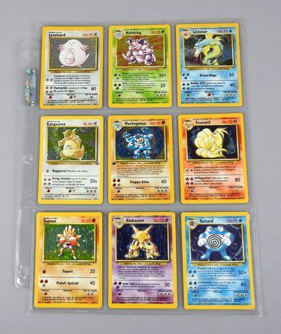 Collection de cartes pokémon appartenant...