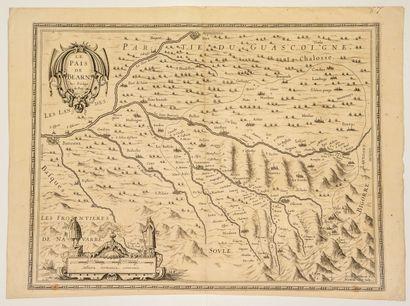 Carte XVIIe: «Le Pays de BÉARN, avec privilège...