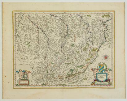 Carte XVIIe s: «CHAMPAGNE latine, Campania,...