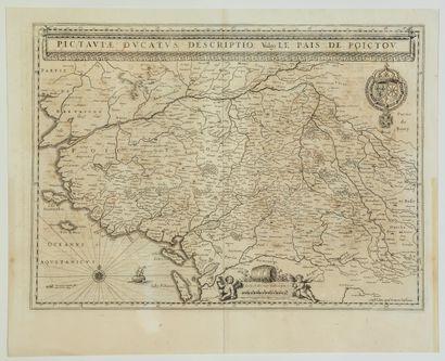 Carte XVIIe s, LE POITOU, LA SAINTONGE:...