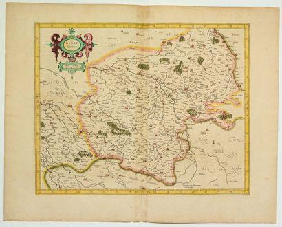 Carte du XVIIe: «BERRY Ducatis» (c.1634)...