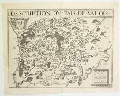 AISNE. Carte XVIIe: «Description du Pays...