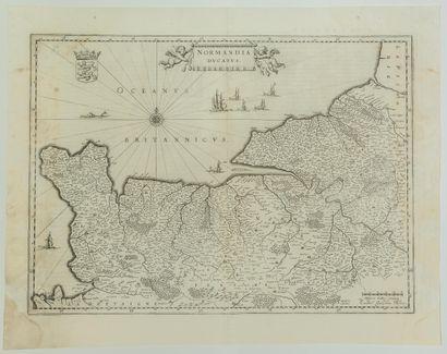 NORMANDIE Carte XVIIe s.: «NORMANDIA ducatus.»...