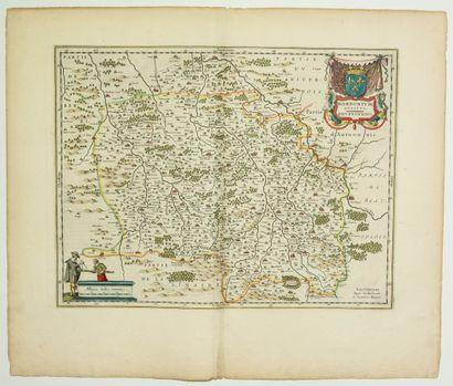ALLIER. Carte XVIIe du BOURBONNAIS: «Borbonium...