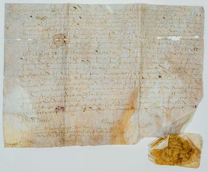 SAVOIE. 1628. Parchemin au nom de Charles...