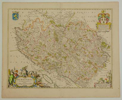 LA BOURGOGNE; Carte XVIIe de LA FRANCHE...