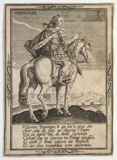 VESPASIEN, Empereur Romain. Portrait équestre...