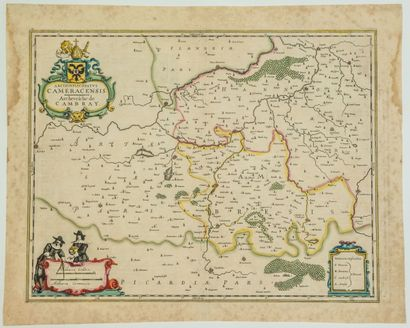 NORD. CAMBRAI. Carte XVIIe de l'Archevêché...