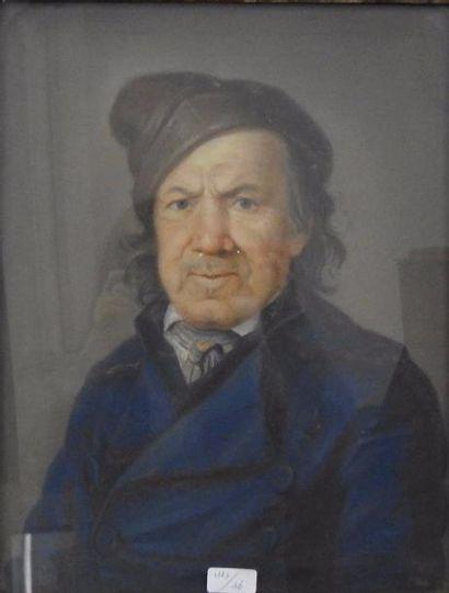 Portrait d'homme révolutionnaire Pastel sur...