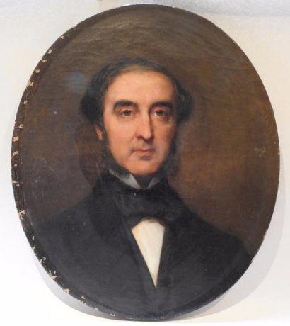 Ecole françise du XIX° siècle  Portrait d'homme...