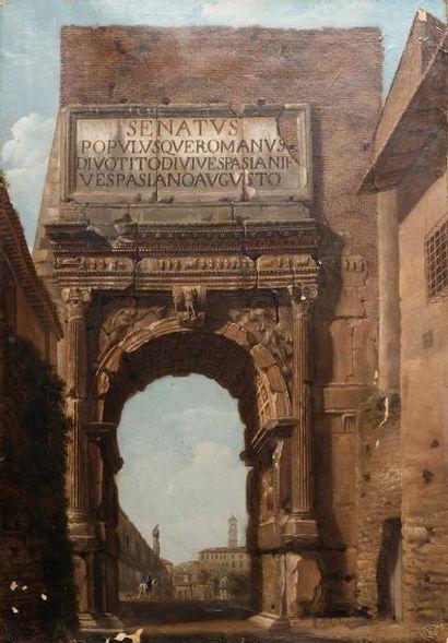 Marco Ricci (dans le goût de), XIX° siècle...