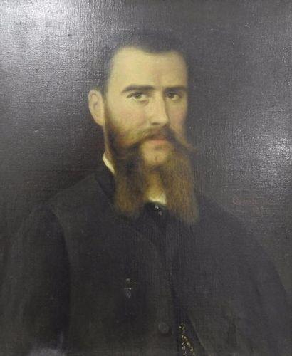 Oswald Marie Portrait d'homme Huile sur toile...