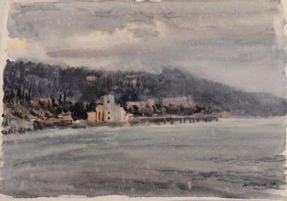 H. Bukeel  Paysage côtier, temps d'orage,...