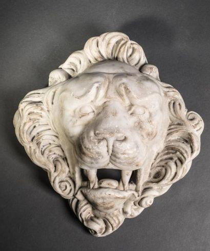 Tête de lion, pouvait servir de bouche de...