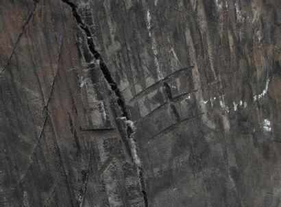 "Wang Keping (ne? en 1949)  ""Couple"", vers 1998  Sculpture en bois d'accacia monogramme?..."