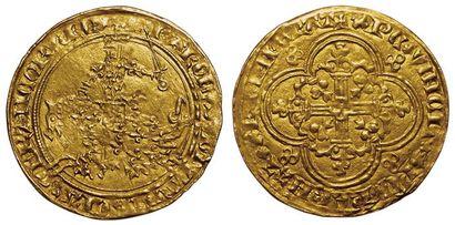 Charles V. 1364-1380. Franc à cheval. A/...