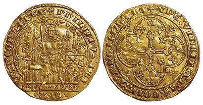 Philippe VI. 1328-1350. Ecu d'or à la chaise....