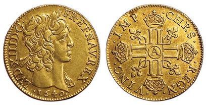 Louis XIII. Louis d'or mèche courte 1640...