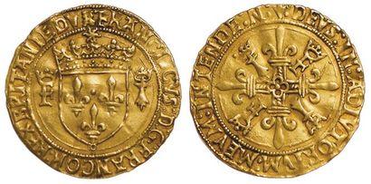 François 1er. Ecu d'or au soleil de Bretagne....