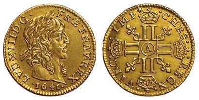 Louis XIII . Demi-Louis d'or mèche longue...