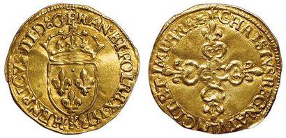 Henri III. 1574-1589. Ecu d'or au soleil...