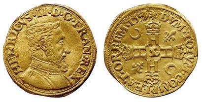 Henri II. 1547-1559. Henri d'or 1er type....