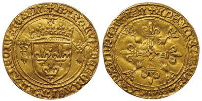Charles VIII. Ecu d'or au soleil de Bretagne....