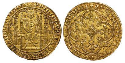 Philippe VI. Chaise d'or. A/ PHILIPPVS DEI...
