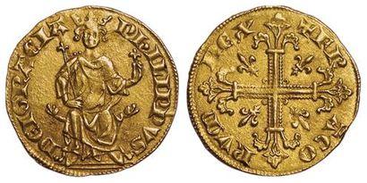 Philippe IV. Petit Royal d'or. A/ PhILIPPVS...